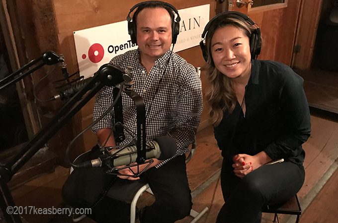 Jeff and Lydia at East Meets West Radio interview